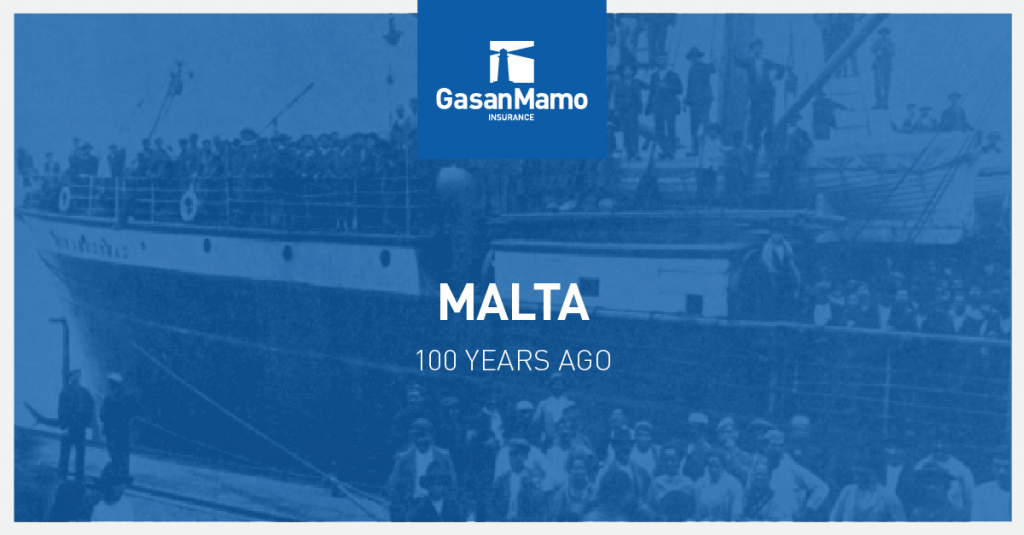 GasanMamo Insurance - Malta 100 Years Ago