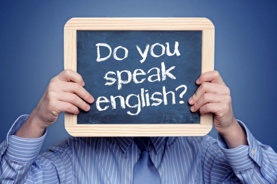 Man asking do you speak english