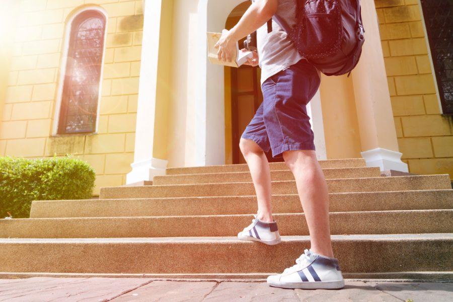 Boy going to University